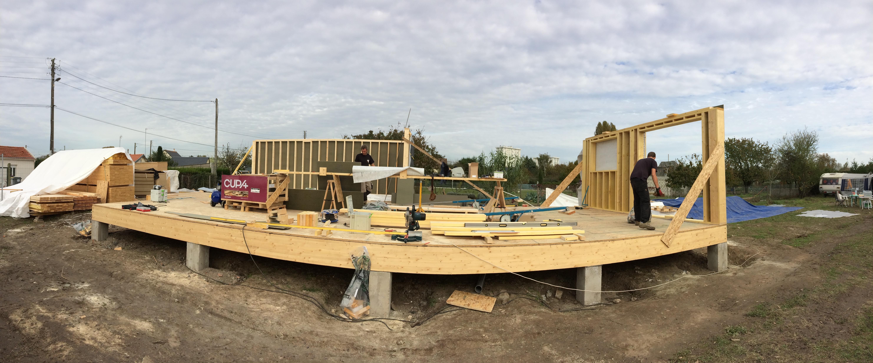 structure rez de chaussée extension bois Alter iso