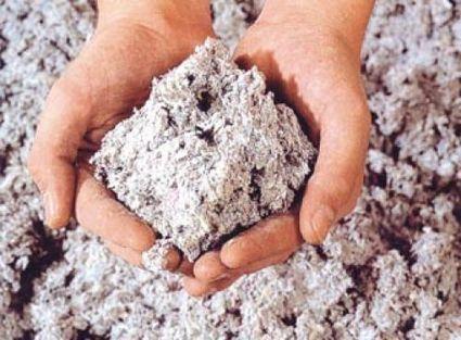 fibre de ouate de cellulose en gros plan