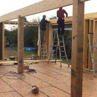 étape de construction extension_bois